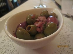 complimentary olives