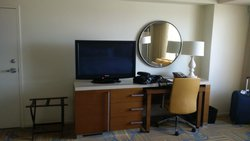 TV and mirror