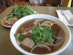 Pho with Beef and Meatballs