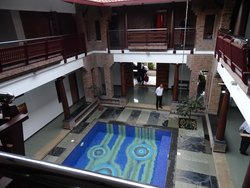 view from upper floor of the pool