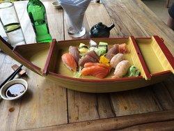 The Sushi and Sashimi mixed boat