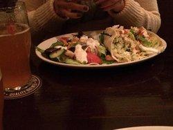Tavern tacos with ahi tuna