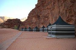 The tents at WAdi Rum Night Luxury Camp