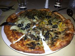 pizza in the square
