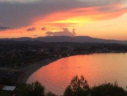 Tsilivi Beach from our balcony