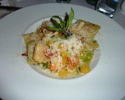 Conti Caffe: Lobster Ravioli with Mango Salsa