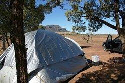 The bush camping area