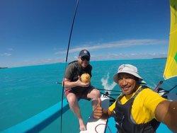 Sailing Aitutaki