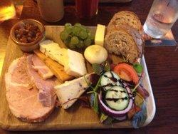 Ham & cheese ploughmans - yum!