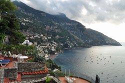morning view toward Positano