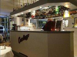 Casalingo bar area - spot the Alfa logo!
