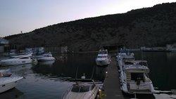 вечерняя Балаклава, вид с террасы ресторана