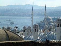 Süleymaniye-Moschee Blick über den Bosporus