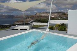 A splash into the private pool