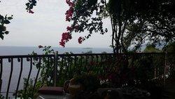 La vista dalla terrazza del ristorante