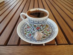 Turkish coffee with breakfast