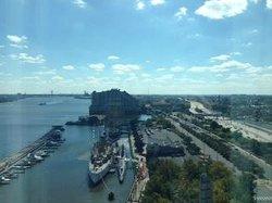 Corner Window View of Water and City