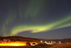 Northern Lights from Frost and Ice hotel grounds