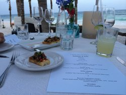 Nothing beats this dinner on the beach!