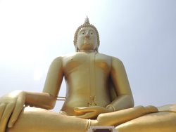 Big Buddha at Wat Muang Temple