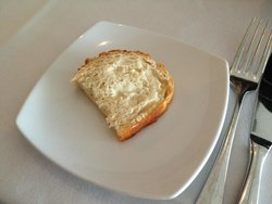 We also received slices of sourdough bread before our meal.
