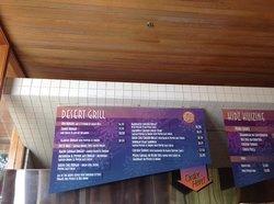 Menu board for Grill