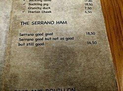 menu 'joke'