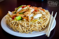 52. Deep fry chow mein