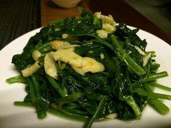 fried vege with garlic