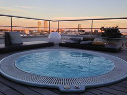 Roof top jacuzzi with a view to die for