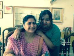 My wife with Mrs Samar