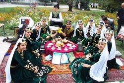 Tatar demostrating their traditional garb on Melitopol Day