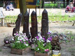 Whimsical statuary in Gorky Park