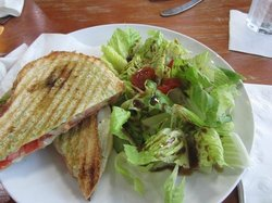 Caprice sandwich and salad - GOOD