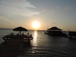 sunset from bar