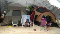 Evolution of our camp site 2014