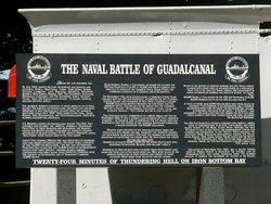 Brief description of the naval battle of Guadalcanal