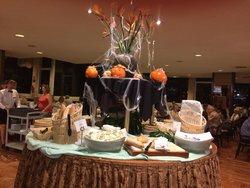 dining room on Halloween