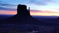 Sunrise over Monument Valley from the hotel