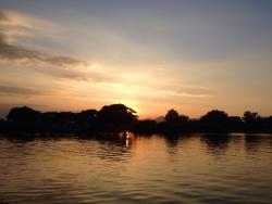 Sunset over the river Kwai