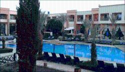 Foto dalla camera sulla piscina