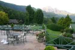 From the veranda looking on to Champagne Castle and Cathkin Peak
