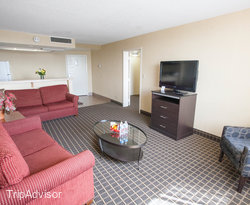 The King Suite at the Quality Inn Central Denver