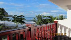 Third floor balcony view of beach