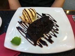 Delicious Home-made chocolate fudge cake!