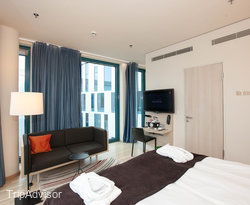 The Superior Extra Room with Interior View at the Scandic Hamburg Emporio