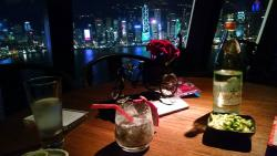 Table, view and Golden Dragon Cocktail