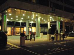 The Entrance to the Hotel at Night