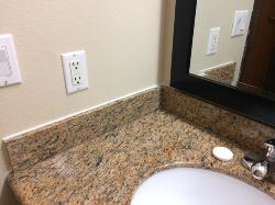 White caulk in updated bathroom (not clear?)