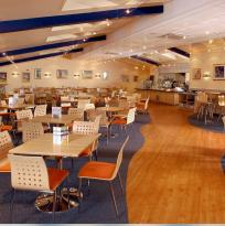 in-store restaurant at Aldiss store
